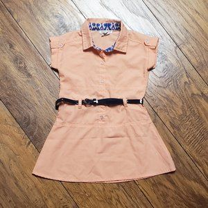 Girl's Spring Belted Dress ONE STEP UP Size 4